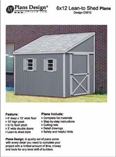 how to build a storage shed lean to style shed plans 6 x 12 plans design - Garden Sheds 6 X 12