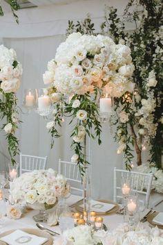 Wedding reception centerpiece idea; photo: Mango Studios