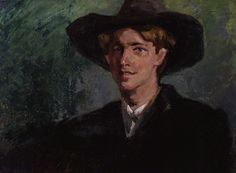 Rupert Brooke, by Clara Ewald. World War I poet who sailed with the British Mediterranean Expeditionary in 1915 but developed sepsis from an infected mosquito bite. Rupert Brooke, Piero Manzoni, British Poets, Bloomsbury Group, English Poets, Galleries In London, National Portrait Gallery, Art Uk, First World