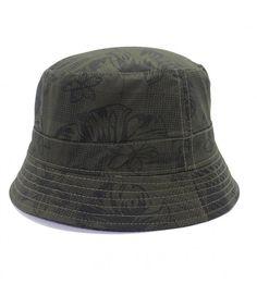 8fc85cd1cda Women s Packable Flower Printed Fishing Bucket Sun Hat Outdoor Sun Cap Army  Green CB1834G4LZX