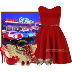 """""""1950's Diner"""" by casuality on Polyvore"""