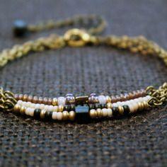 Bracelet bohème trois rangs