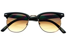 black and gold clubmasters  Clubmaster Driving Orange Lens Retro Blue Blocking Sunglasses ...