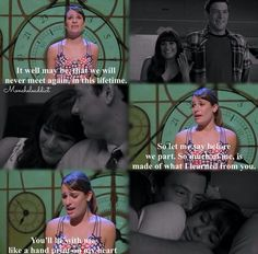 Rachel and Finn/Lea and Cory.I think im gonna cry! Glee Quotes, Tv Show Quotes, Movie Quotes, Glee Memes, Rachel And Finn, Lea And Cory, Cory Glee, Matthew Morrison, Finn Hudson