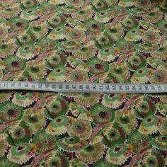 Pima Cotton Lawn - Mary Poppins - Navy and Green Parasol Umbrella Print Dress Fabric -s
