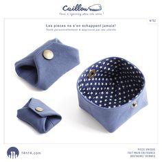 """Porte-monnaie / bourse """"CAILLOU"""" n°52 /// E-shop: www.alittlemarket.com/boutique/14h14 /// Shop: Kaleïdo Store, 13 rue St-Georges à Rennes"""