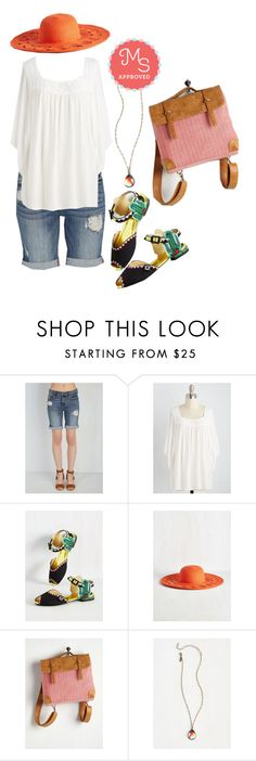 """Maybe She's Thorn With It Flat"" by modcloth ❤ liked on Polyvore featuring Miss L Fire"