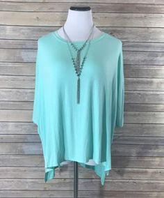Yours Truly Relaxed Fit Mint Tunic Top Boutique Clothing, Fashion Boutique, Mint, Tunic Tops, Fitness, How To Make, Shopping, Clothes, Color
