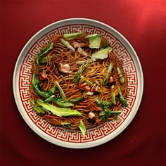 chow mein - Chinese noodle  Food illustration