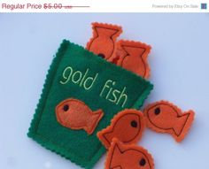 ON SALE  EASTER Pretend Felt Gold Fish by kidnaroundcreations, $4.00