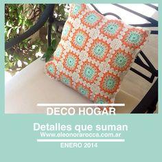 Hecho a mano, confeccionado en hilo de algodon, tamańo 40 x 40 cm.             Hola@eleonorarocca.com.ar Www.eleonorarocca.com.ar