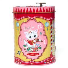 Een super lief en nostagische muziekdoos van het Aziatische vintage merk Wu & Wu. Voor het opbergen van je meest dierbare spulletjes.  In de deksel zit een muziekdoosje met het mooie liedje La Vie en Rose.  Omdat het muziekmechanisme in het deksel zit, is - € 14,95