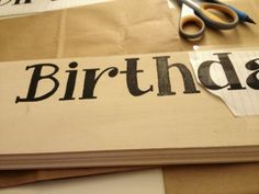 Family Birthday Sign DIY