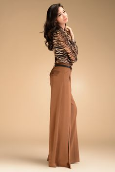 Aliexpress.com : Buy 2013 Autumn Fashion Formal Womens High Waist Camel Trousers , Fall Wide Leg Bell Bottom Dress Pants For Women , Woman C...