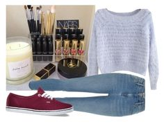 """""""Ma Makeup(some of it)"""" by avamancuso ❤ liked on Polyvore featuring Mode und Vans"""