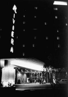 The Riviera Casino in 1955, vintage Las Vegas photo.