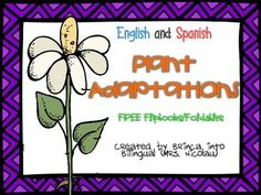 Do you need a cute and simple foldable/flipbook to introduce and learn about plant adaptations to your students???Download these two foldables for FREE!!The patterns come for both English and Spanish!Please leave me your feedback if you download this product! :)
