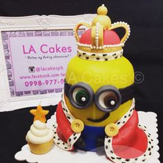 Minion King Bob Birthday cake wwwFacebookcomcathysconfection