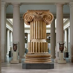 IONIC Marble column from the Temple of Artemis at Sardis Period: Hellenistic Date: ca. 300 B.C. Culture: Greek Medium: Marble
