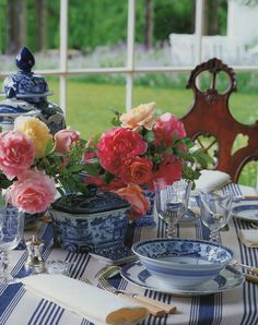 The five images above are from A Passion for Blue and White by Carolyne Roehm.   The two above are from Alberto Pinto's Table Settings. ...