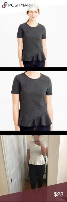 J Crew Short Sleeve Peplum A versatile staple piece for any closet.  Peplum not exaggerated; just enough!  Make it yours. J. Crew Tops Tees - Long Sleeve
