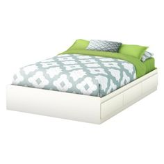 Storage Mates full size wood bed frame w/ drawers; reasonably priced @ Target.