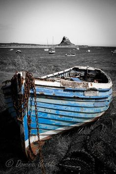 Blue Boat Holy Island Northumberland | Flickr - Photo Sharing! Dominic Scott Photography