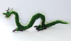 Azure Dragon of the East Beaded figurine