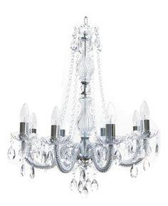 Aimbry desire glass chandelier, clear