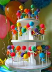 Lollipop Cake tree - i like how the pops are different heights - remember for other cake pop displays porta chupetines Lollipop Cake, Cupcake Cakes, Lollipop Party, Colorful Birthday Party, Birthday Parties, Birthday Cake, Birthday Ideas, Anniversaire Candy Land, Super Torte