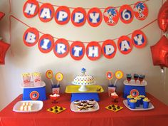 Sonic the Hedgehog Birthday Party Ideas | Photo 5 of 21 | Catch My Party