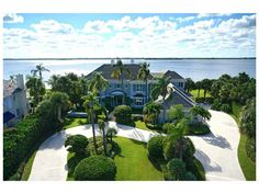 One of Seagrove's most magnificent riverfront settings.  Extremely well-built traditional-style residence on 220? ft. of shoreline, overlooking a wide stretch of the river to a tree-cloaked nature reserve. Dramatic living room opens to large pool patio. Full bar with wine cellar. Exercise studio. Master suite has study and balcony. Multi-boat dock. Sizes approx. & subject to error.