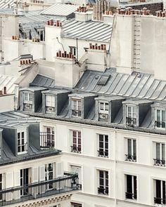 Photographie de Paris grand mur Art Print toits de Paris