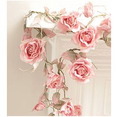 Rose garland / for draping on chandelier, birdcages