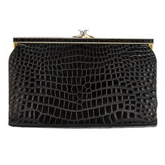 Gorgeous & Unique French Baby Crocodile Clutch 1960   From a collection of rare vintage handbags and purses at http://www.1stdibs.com/fashion/accessories/handbags-purses/