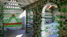 bottle house interior