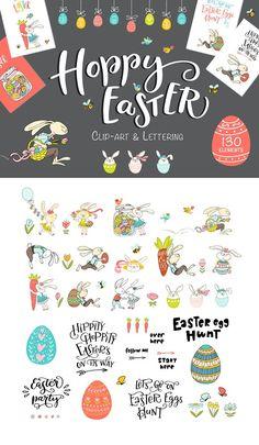 Hoppy Easter by Valeria Ashhab on @creativemarket