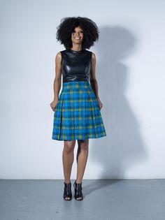 Mandi double-pleat skirt by Tatusi