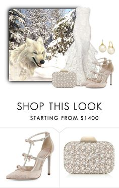 """Winter Wolf"" by sjlew ❤ liked on Polyvore featuring Reem Acra, René Caovilla, Jimmy Choo and Kate Spade"