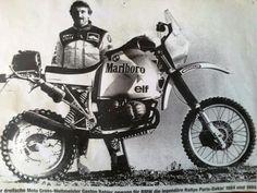 vintage Paris Dakar Rally Motorcycles | Gaston Rahier Paris-Dakar Rally