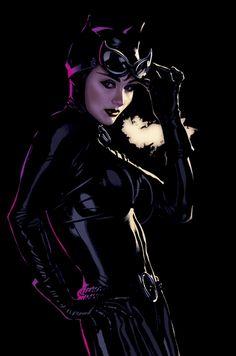Catwoman #46 Cover - Artwork by Adam Hughes
