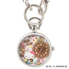 RARE Hello Kitty Watch Key Ring Charm Silver with A Box Set Sanrio Japan | eBay