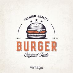 Fast food burger Retro logo, old graphic vintage style, top drawing inspiration, trending art work ideas Bakery Logo Design, Food Logo Design, Logo Food, Web Design, Retro Logos, Logos Vintage, Retro Recipes, Vintage Recipes, Burger Design