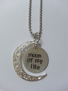 Hey, I found this really awesome Etsy listing at https://www.etsy.com/listing/201747842/moon-of-my-life-hand-stamped-aluminum