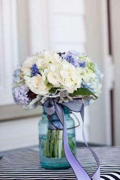 Pretty with the blue mason jar