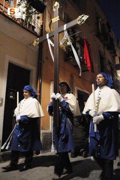 Settimana Santa:Cagliari, processione dell'Arciconfraternita del Gonfalone