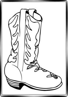 Free Cowboy Boot Outline Cowboy Boots Clipart Cowboy Embroidery Pinterest Cowboy Boots