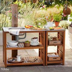 Outdoor-Spültisch Wozu in die Küche gehen, wenn man das Geschirr für die Grillparty auch im Garten spülen kann? Der praktische Outdoor-Spültisch aus…