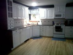 navy walls and backsplash pattern