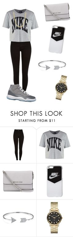 """""""BORED  ASF 😕😂"""" by trill-queen23 ❤ liked on Polyvore featuring beauty, NIKE, MICHAEL Michael Kors, Bling Jewelry, Marc by Marc Jacobs and Sterling Essentials"""